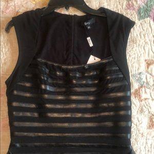 Sky leather mini dress